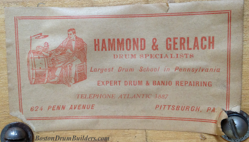 Hammond & Gerlach Drum Label