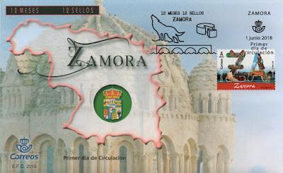 sobre, matasellos, Zamora, sello, filatelia