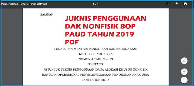 Petunjuk Teknis (Juknis) BOP PAUD Tahun 2019 PDF
