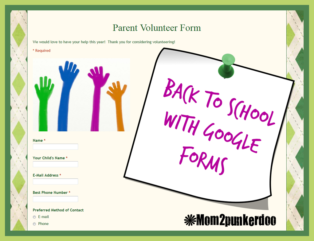 Easy way to collect parent contact information and have all the information automatically saved in digital format using Google forms! You will never go back to paper forms again!