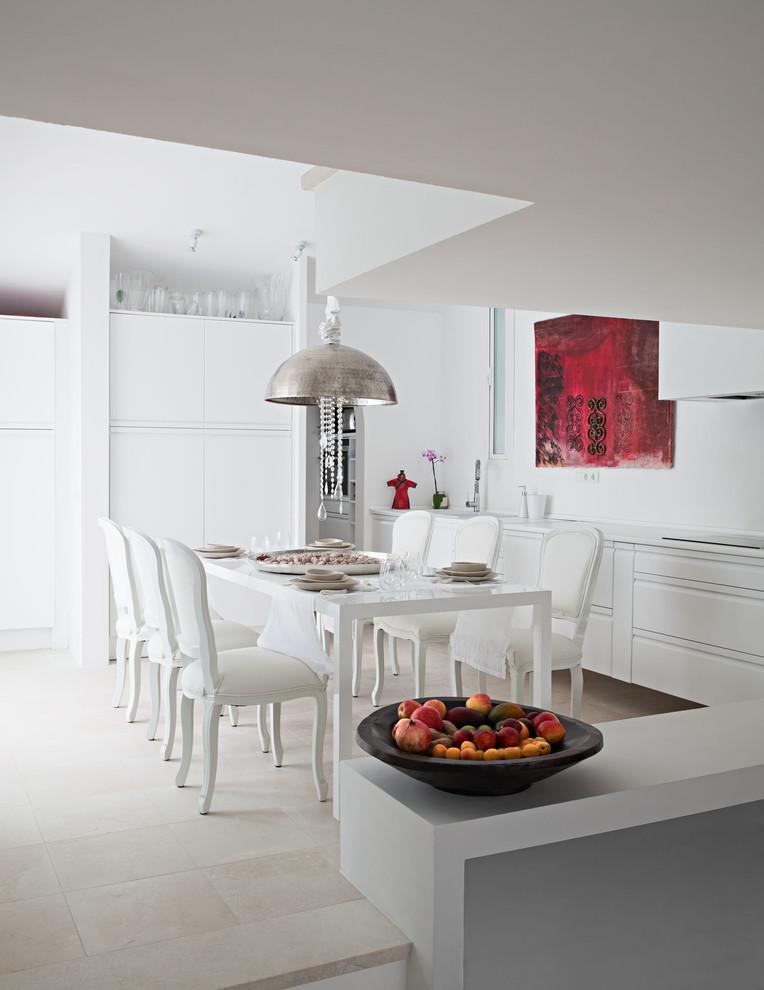 Cocina y comedor espacio abierto