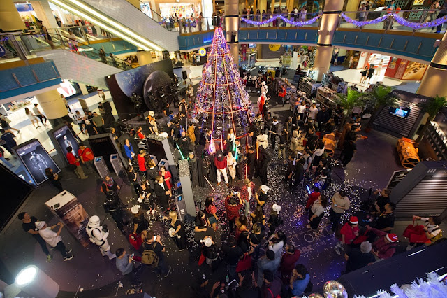 star wars go rogue one chrismas sunway pyramid concourse overview