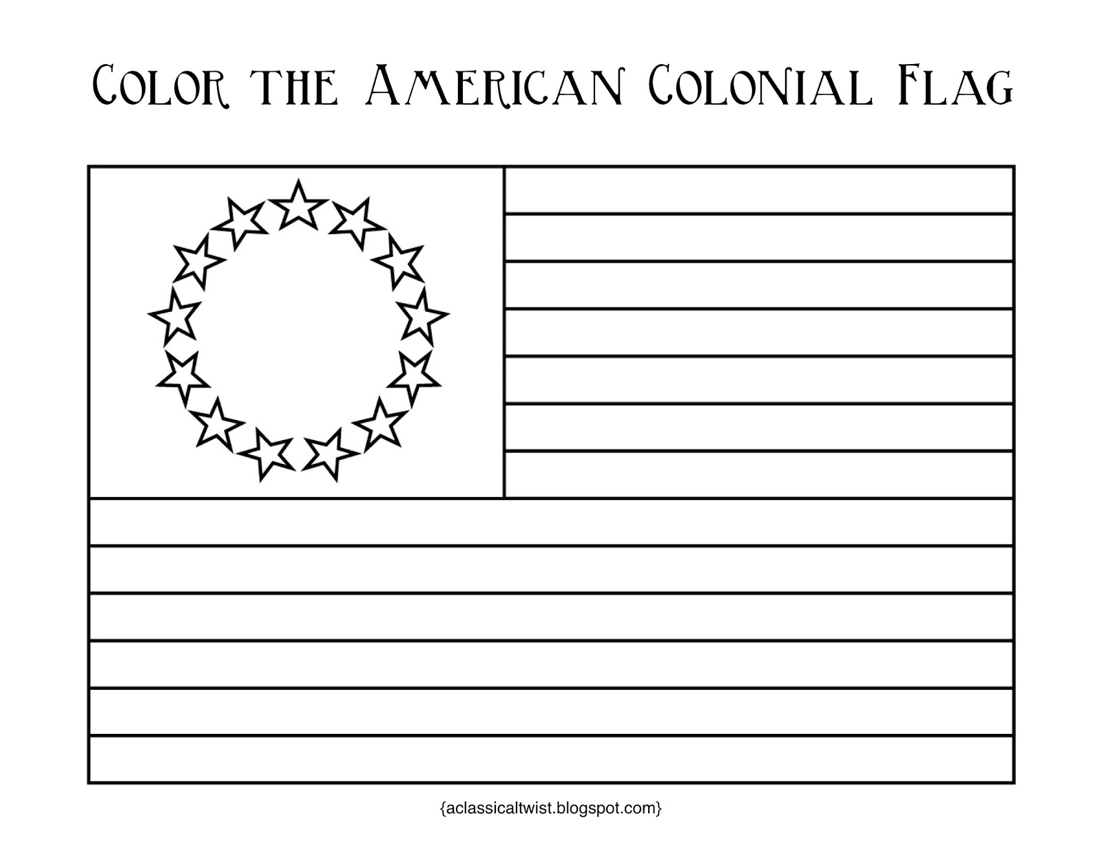 homeschooling with a classical twist original 13 colonies and usa flag coloring pages