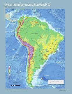 Apoyo Primaria Atlas de Geografía del Mundo 5to. Grado Capítulo 2 Lección 1 Relieve Continental y Oceánico de América del Sur