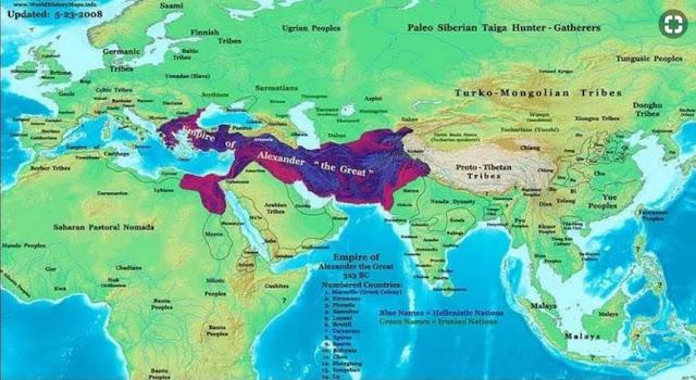 wilayah kekuasaan alexander the great