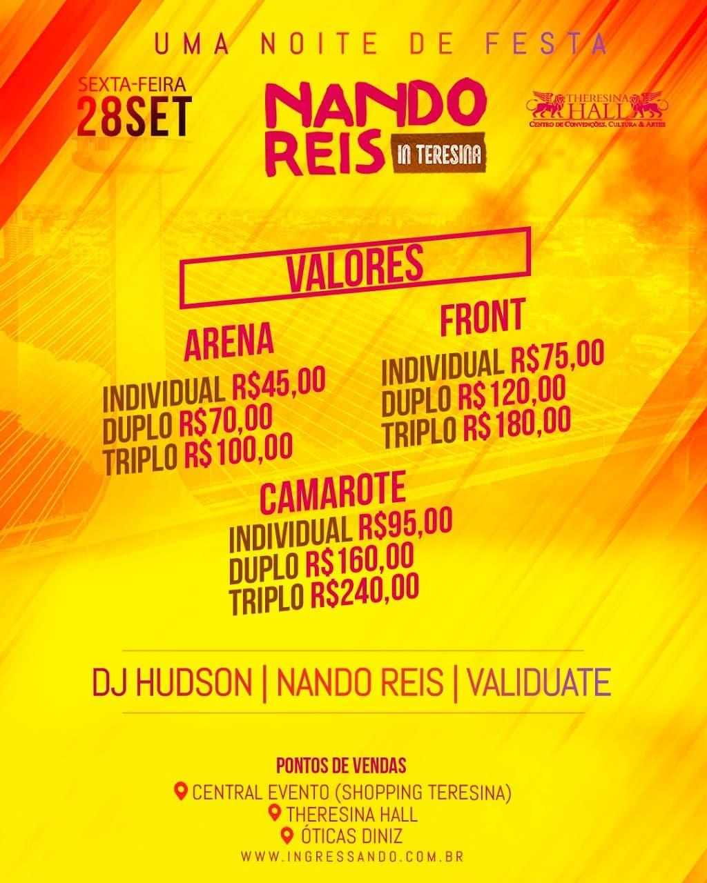 7fd9dd6e7997f Agenda Cultural de Teresina  Nando Reis em Teresina - Theresina Hall ...