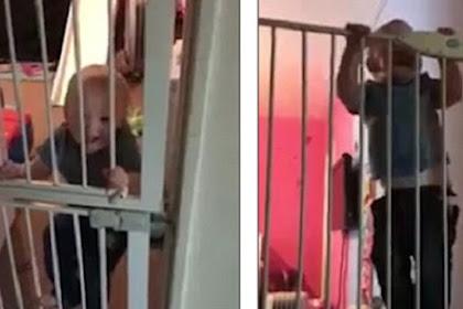 Lewati Gerbang Tinggi, Anak Ini Bikin Ibunya Kaget