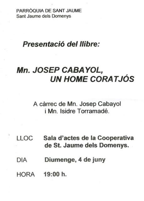 Esguard de Dona - Presentació del Llibre Mn. Josep Cabanyol, un home coratjós