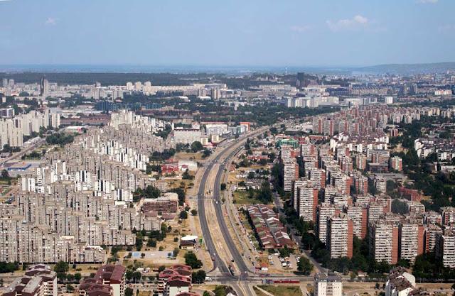 Imagem aérea de Belgrado