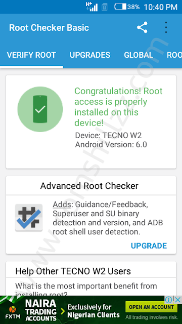How To Root Tecno W2 - RomShillzz - Database for Firmware
