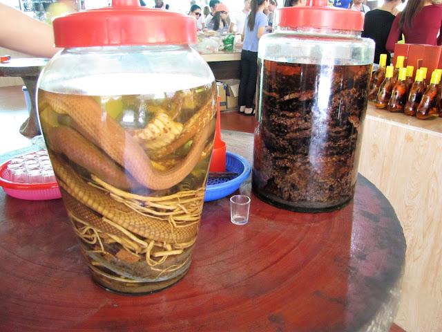 snake honey rum mekong delta vietnam
