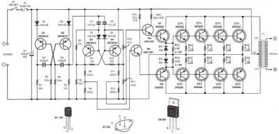 500 WATT INVERTER 12VDC TO 220VAC CIRCUIT SCHEMATIC