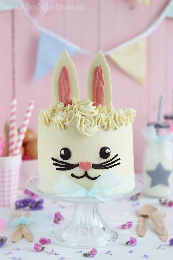 Tutorial tarta conejo de pascua