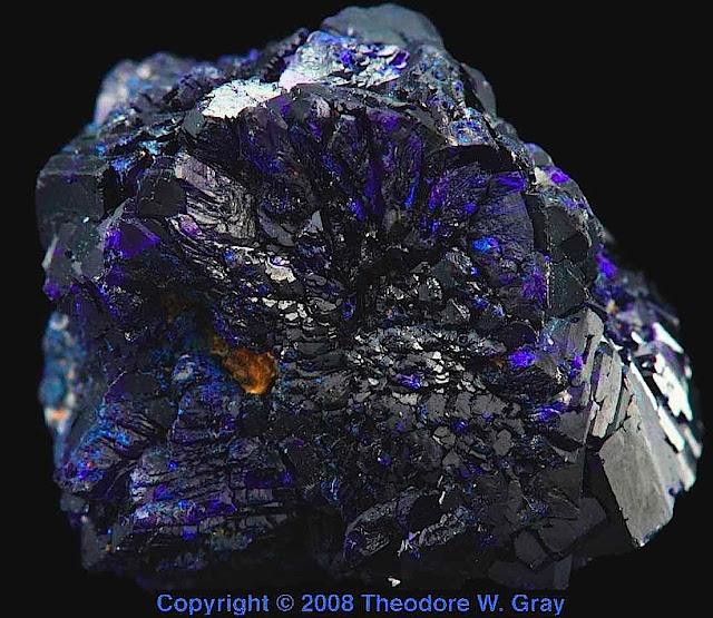 purple azurite photograph