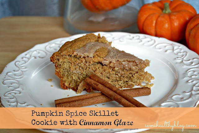 pumpkin spice skillet cookie