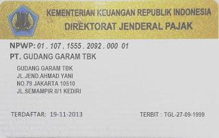 NPWP PT Gudang Garam