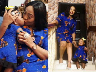 Seyi Law's Wife, Ebere And Daughter Slay In Matching Ankara Outfits