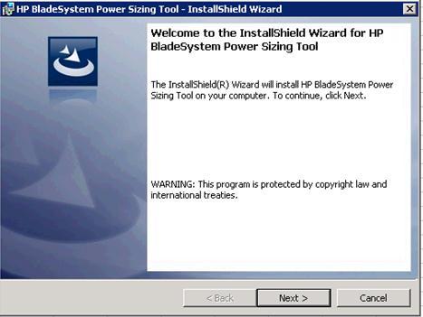 hp bladesystem power sizing tool
