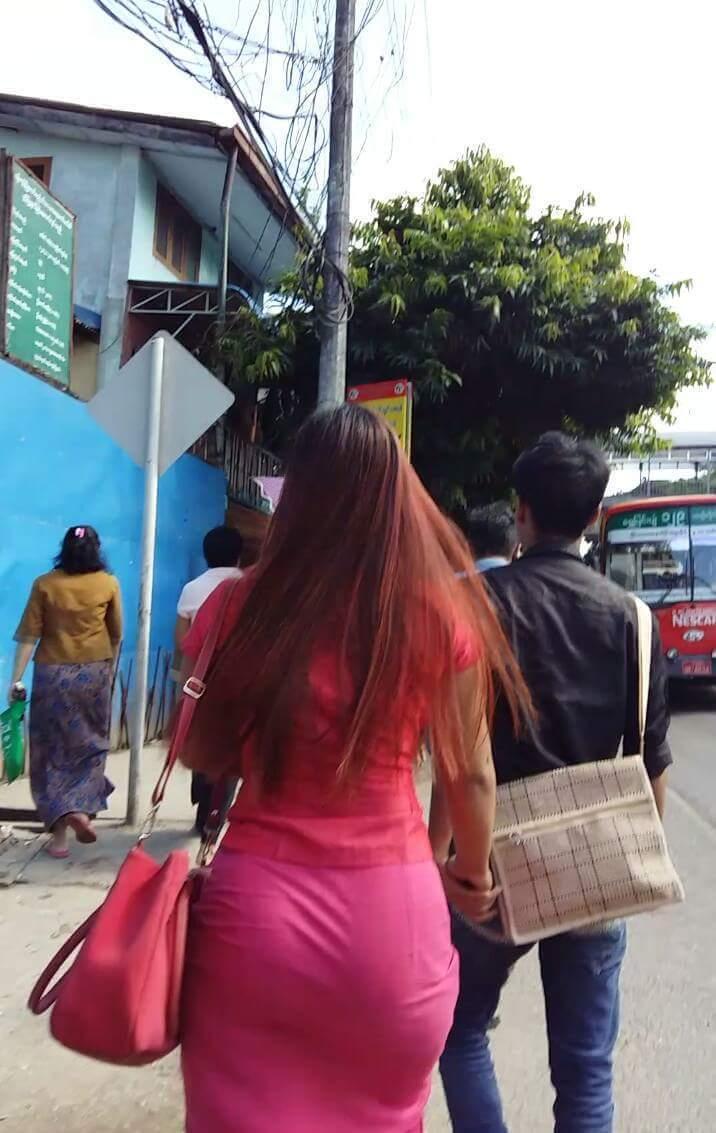 Myanmar Buttocks Selection On Road - 1   - -9467