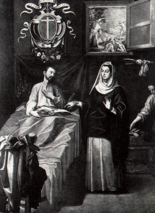 Francisco Pacheco, San Sebastián atendido por Santa Irene (1616)