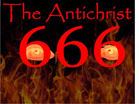 The Antichrist, 666 with evil human eyes