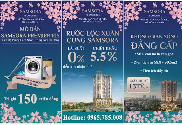 Chính sách chiết khấu dự án Samsora Premium