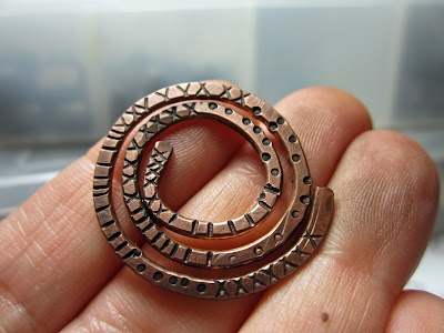 Love My Art Jewelry Textured Wire Sprial Donut Connector