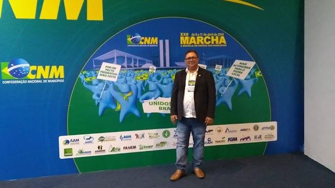 Jodoval Pontes está em Brasília buscando sempre  melhorias para o município de Japi