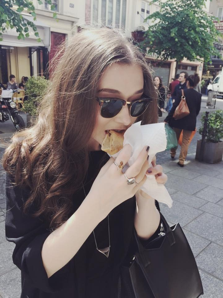 Eating Crepes in Paris