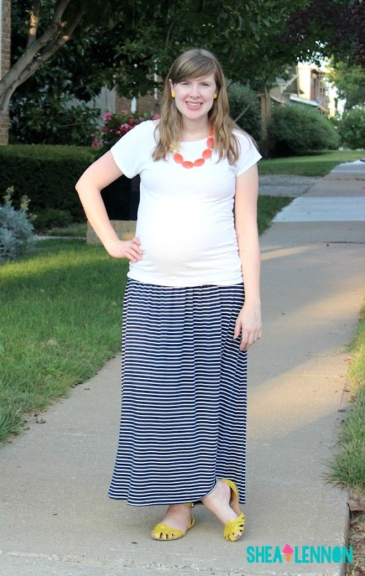 Striped Maxi Skirt and Striped Closet MVPs