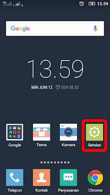 cara setting modem android di komputer