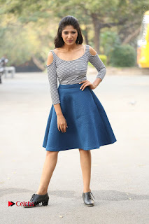 Telugu Actress Roshini Prakash Stills Short Dress at Saptagiri Express Release Press Meet  0260.JPG