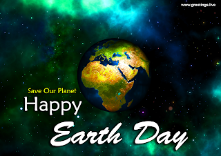 Happy Earth Day globe Save Planet Earth Day 2019 Greetings.