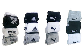 pack of 12 pair socks with logo terry cotton towel socks