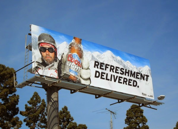 Coors Light Refreshment delivered billboard