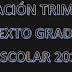 PLANEACION PRIMER TRIMESTRE 6° PRIMARIA CICLO ESCOLAR 2018-2019