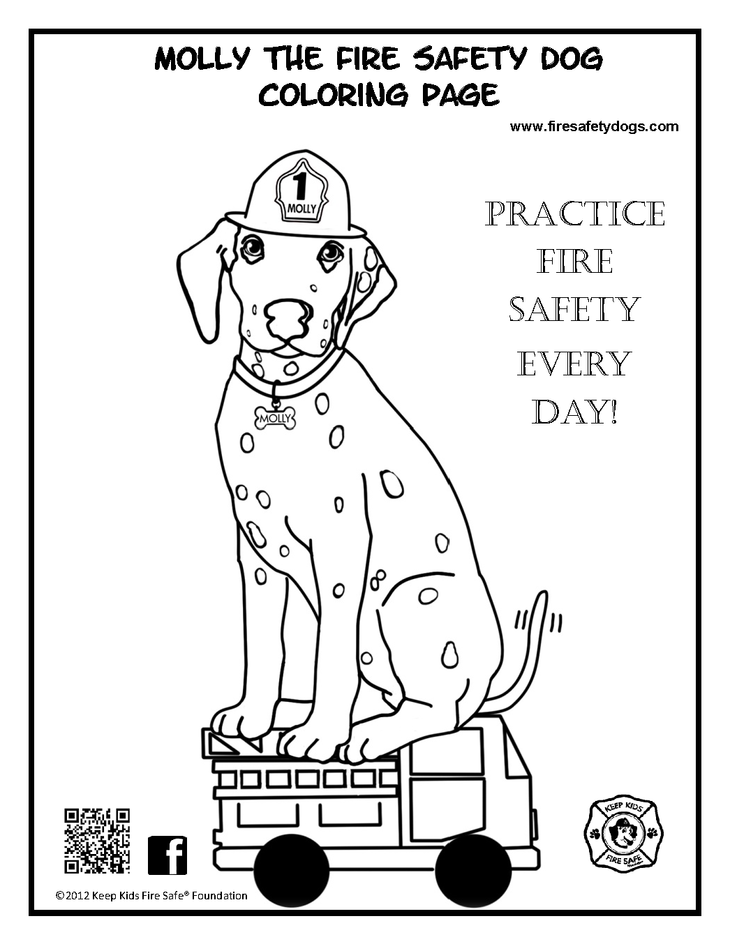 Fire Safety Rocks New Free Downloadable Coloring Page