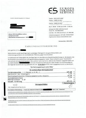 Scan: Europa Inkasso, Dortmund | Seite 1