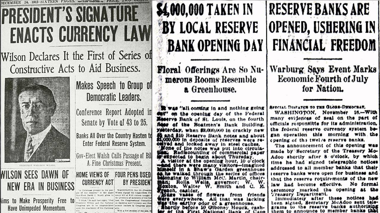 Amerikan Paniği Bozuk Federal Rezerv Sisteminin Yaratılmasına ve Genişlemesine Yol Açtı
