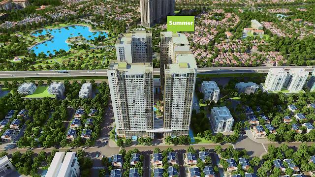 Phố cảnh chung cư Eco Green City