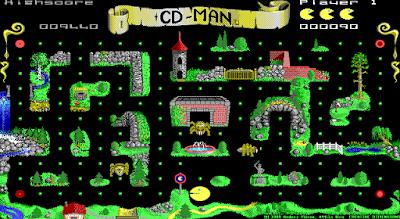 【Dos】CD-MAN,Dos版小精靈益智遊戲!