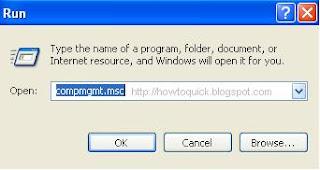 Computer Management Shortcut Command