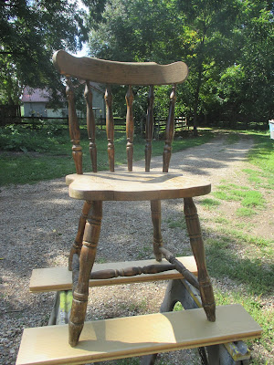 A Glimpse of Normal Blog, Chair Makeover, DIY, Rustoleum Chalked Paint, makeover,