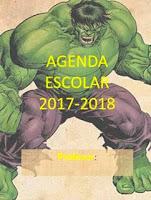 Agenda escolar de hulk gratis para imprimir