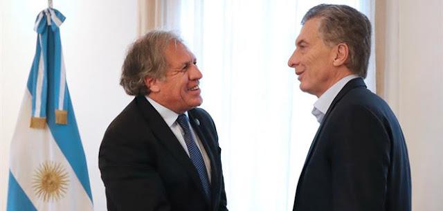 Macri y Almagro conversan en Buenos Aires sobre Venezuela y Nicaragua