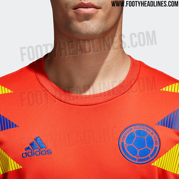 2d36ad9f310 Exclusive: Orange Special Edition Adidas Colombia 2018 World Cup ...
