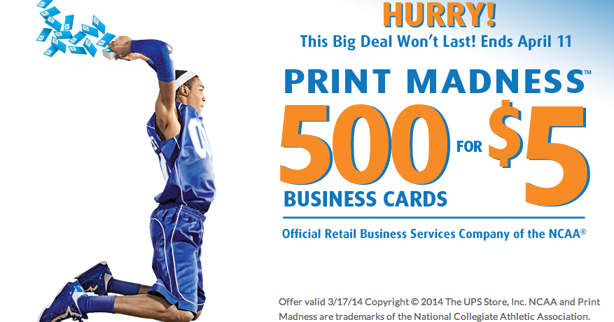 Free Is My Life Deal 500 Business Cards For Only 5 For The Ups Store S Print Madness