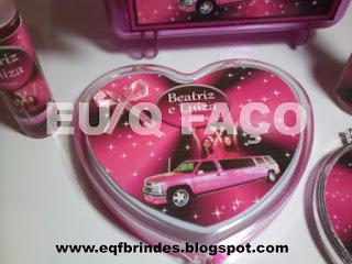 limousine rosa, kit maquiagem, lembrancinha, brindes, festa, personalizados, infantil