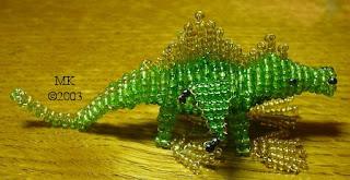 Мифические сказочные животные из бисера. Динозавр, дракон объемный
