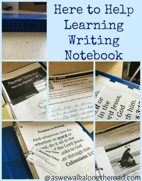 Homeschool writing curriculum notebook